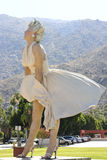Forever Marilyn. This large statue of iconic Marilyn Monroe is currently featured in Palm Springs, CA. She was moved here from Chicago in May of 2012. Her stay stock photography