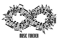 Forever music concept. Royalty Free Stock Photos