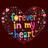 Forever in my heart love vector Stock Photo