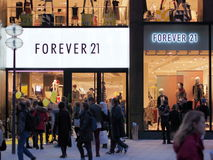 FOREVER 21 opening munich. FOREVER 21 store in munich on its opening day Royalty Free Stock Images