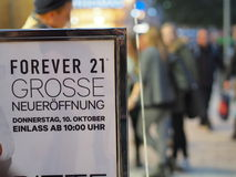 FOREVER 21 opening munich Stock Images