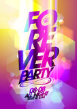 Forever party bokeh background. Stock Photography