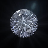 Forever round diamond with clipping path. Round shape diamond cut with clipping path Royalty Free Stock Images
