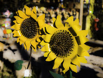 Forever Sunflowers. Sunflowers made from iron at a roadside stand outside of Ruidoso, New Mexico Royalty Free Stock Image