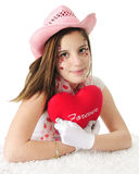 A Forever Valentine Cowgirl Royalty Free Stock Photography