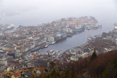 Forever whining and rainy city of Bergen Stock Photo
