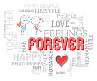 Forever Words Indicates Find Love And Always. Forever Words Showing Find Love And Forevermore Stock Photos