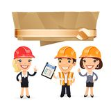 Forewoman with Speech Bubble Stock Photo