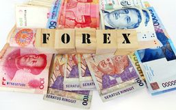 Foreign exchange, Asia currencies concept Royalty Free Stock Photography