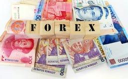 Del cambio sull'estero, concetto di valute dell'Asia Fotografia Stock Libera da Diritti