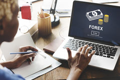 FOREX Banking Stock Market Finance Online Website Concept Stock Photography