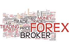Are The Forex Brokers My Friends Word Cloud Concept Royalty Free Stock Photography
