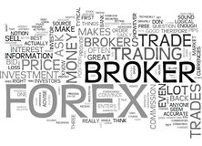 Are The Forex Brokers My Friends Word Cloud Stock Photography