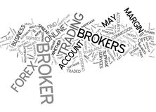 Forex Brokers Text Background  Word Cloud Concept Stock Images