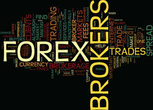 Forex Brokers Are They Worth The Fees Word Cloud Concept Royalty Free Stock Photos