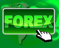 Forex Button Means World Wide Web And Currency Royalty Free Stock Image