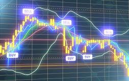 Candlestick stock exchange background Stock Image