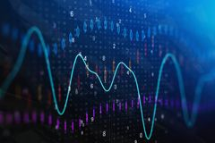 Forex chart backdrop. Creative forex chart backdrop. Investment and trade concept. Double exposure Stock Images
