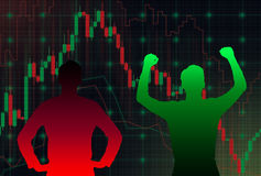 Forex chart Stock Photography