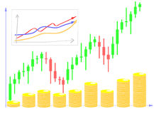 Forex chart diagram Stock Photography