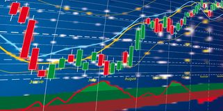 Forex chart diagram. Vector illustration of Forex growth candlestick diagram Royalty Free Stock Photo
