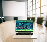Forex chart and empty whiteboard Stock Photography