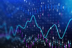 Forex chart texture. Creative forex chart texture. Investment and trade concept. Double exposure Stock Photos