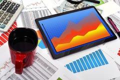Forex chart Stock Photo