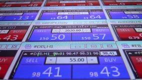 Forex de effectenbeurs citeert ticker raad dicht op nieuwe dynamische de technologiemotie kwaliteits financiële van het bedrijfsg stock footage