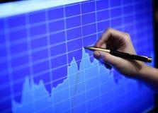 Forex de grafiek van de effectenbeurskaars Royalty-vrije Stock Foto's