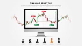 Forex de vectorillustratie van de handelstrategie stock illustratie