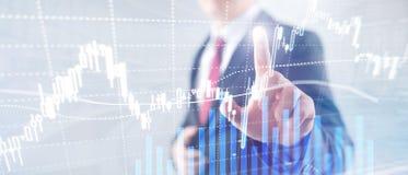 Forex die, Financiële markt, Investeringsconcept op commerciële centrumachtergrond handel drijven royalty-vrije stock foto