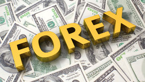 Forex on the dollar background Stock Photos