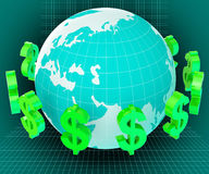 Forex Dollars Shows Exchange Rate And Currency Royalty Free Stock Images