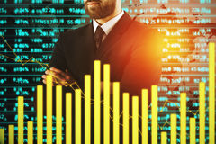 Forex, economy and success concept Royalty Free Stock Photos