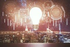 Forex en innovatieconcept Stock Foto's
