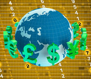 Forex Euros Indicates British Pound And Dollars Royalty Free Stock Image