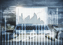 Forex and financial growth concept Royalty Free Stock Photos