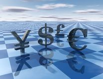 Forex game abstract concept illustration Stock Image