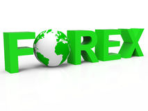 Forex Globe Indicates Foreign Exchange And Broker Royalty Free Stock Image
