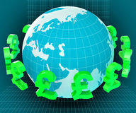 Forex Globe Represents Exchange Rate And Currency Royalty Free Stock Photo