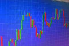 Forex graph Stock Photography