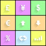 Forex icons Royalty Free Stock Images