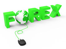Forex Internet Means World Wide Web And Earth Stock Photography