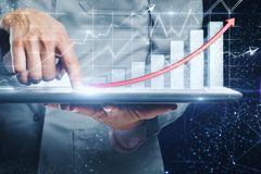 Forex and invest concept stock images