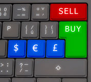 Forex keyboard Royalty Free Stock Photo