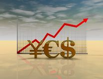 Forex market abstract concept. Royalty Free Stock Image
