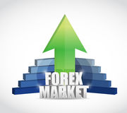 Forex market business graph illustration design Stock Image