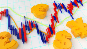 Forex Market Chart Stock Photography