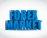 Forex market 3d text sign illustration Royalty Free Stock Photo